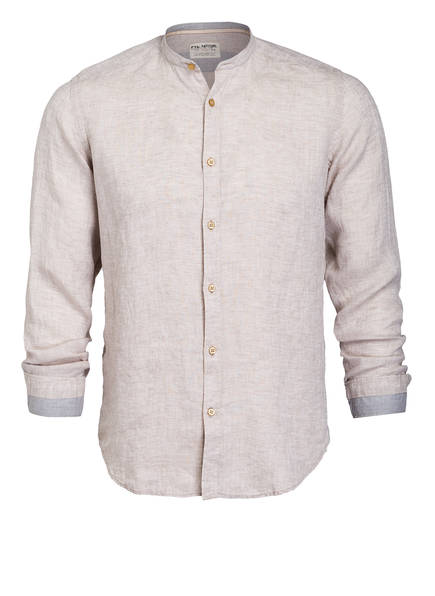 FIL NOIR Leinenhemd ANCONA Shaped Fit, Farbe: BEIGE (Bild 1)