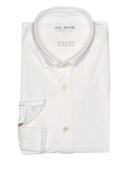 FIL NOIR Jersey-Hemd TERAMO Shaped Fit, Farbe: WEISS (Bild 1)