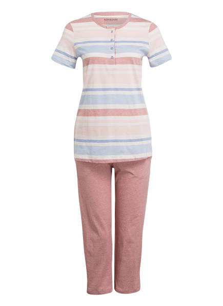 SCHIESSER Schlafanzug, Farbe: ROSÉ/ HELLBLAU (Bild 1)