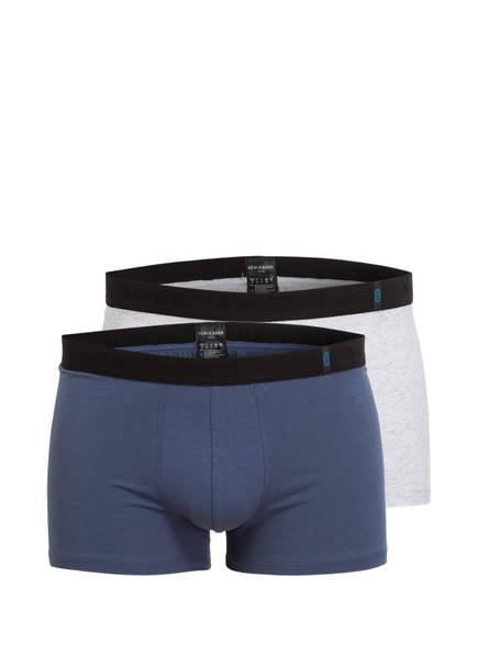 SCHIESSER 2er-Pack Boxershorts , Farbe: BLAU/ HELLGRAU (Bild 1)