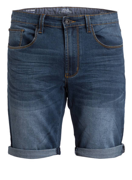 PAUL Jeans-Shorts Slim Fit, Farbe: Dk. Blue Used (Bild 1)