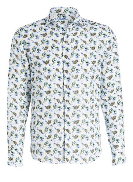 Stenströms Leinenhemd Regular Fit, Farbe: WEISS/ BLAU/ GRÜN (Bild 1)