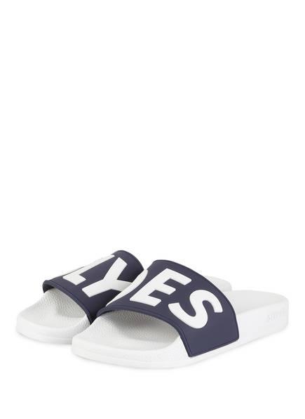 SLYDES Pantoletten DEFLECT, Farbe: WEISS/ NAVY (Bild 1)