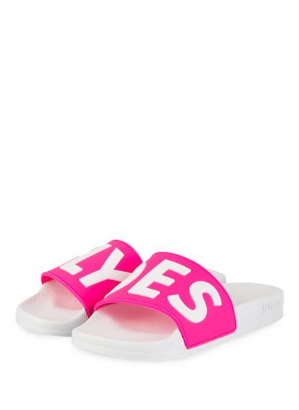 SLYDES Pantoletten DEFLECT, Farbe: PINK/ WEISS (Bild 1)