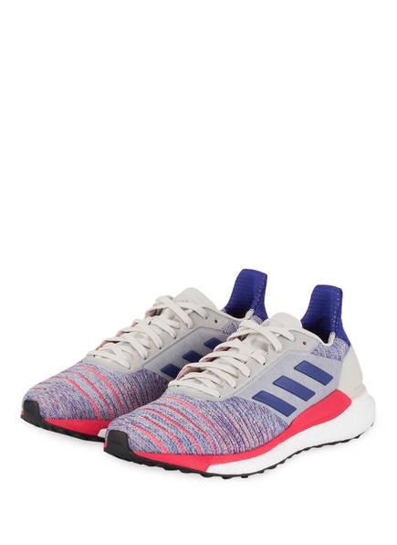 adidas Laufschuhe SOLAR GLIDE, Farbe: HELLGRAU/ BLAU/ ROT (Bild 1)