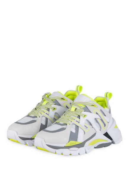 ash Sneaker FLASH, Farbe: WEISS/ GRAU/ NEONGELB (Bild 1)