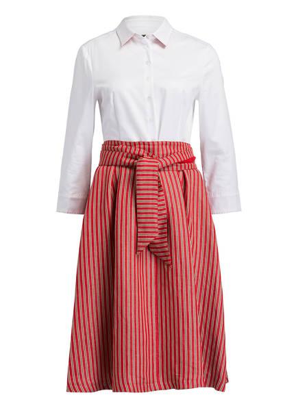 SCHNEIDERS Kleid MARITA mit Leinen, Farbe: WEISS/ ROT (Bild 1)