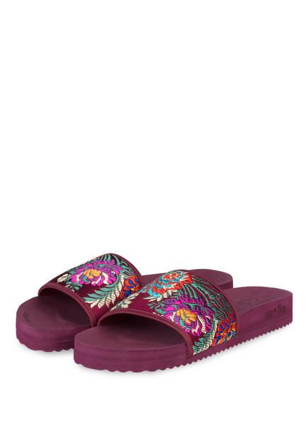 flip*flop Pantoletten POOL ASIA, Farbe: DUNKELLILA (Bild 1)