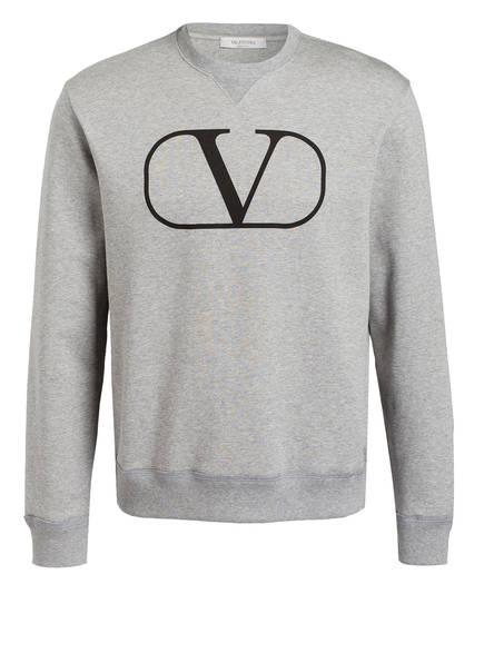 VALENTINO Sweatshirt VLOGO, Farbe: GRAU MELIERT (Bild 1)