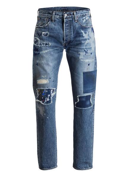 Levi's® Destroyed-Jeans 501 Original Fit, Farbe: DESTROYED DENIM BLUE (Bild 1)