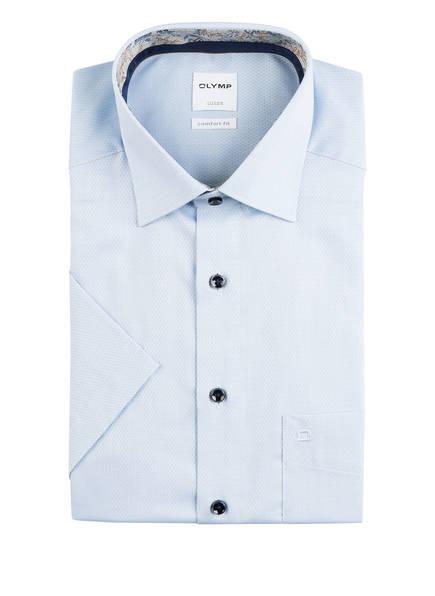 OLYMP Kurzarm-Hemd Luxor comfort fit, Farbe: HELLBLAU STRUKTUR (Bild 1)