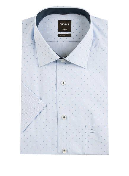 OLYMP Kurzarm-Hemd Luxor modern fit, Farbe: HELLBLAU/ WEISS (Bild 1)
