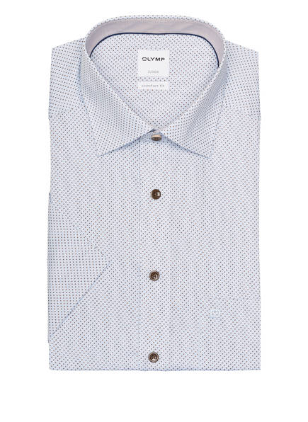 OLYMP Halbarm-Hemd Luxor comfort fit, Farbe: HELLBLAU/ DUNKELBRAUN (Bild 1)