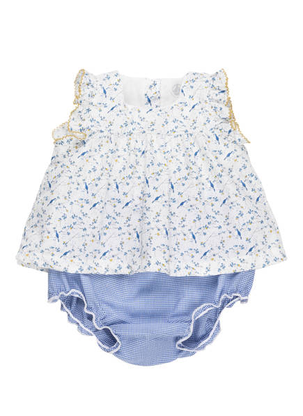 PETIT BATEAU Set: Kleid und Hose, Farbe: WEISS/ BLAU (Bild 1)