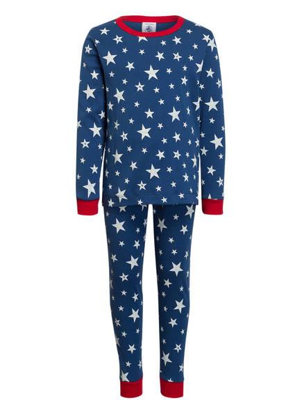 PETIT BATEAU Schlafanzug, Farbe: BLAU/ WEISS (Bild 1)