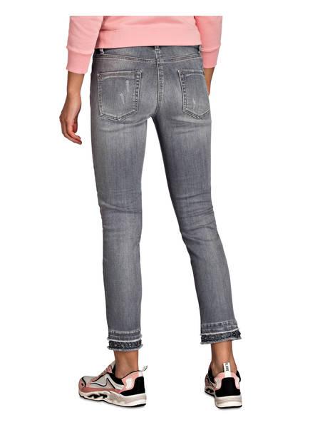 Denium Schmucksteinbesatz Pina Skinny Bleached Cambio jeans Mit Grey H1xznwaY