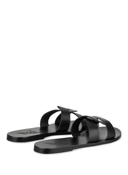 Schwarz Ancient Desmos Greek Pantoletten Sandals TPq4OUf
