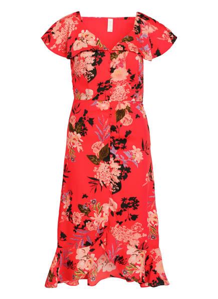 Y.A.S. Kleid mit Volants, Farbe: ROT/ SCHWARZ/ ROSA (Bild 1)