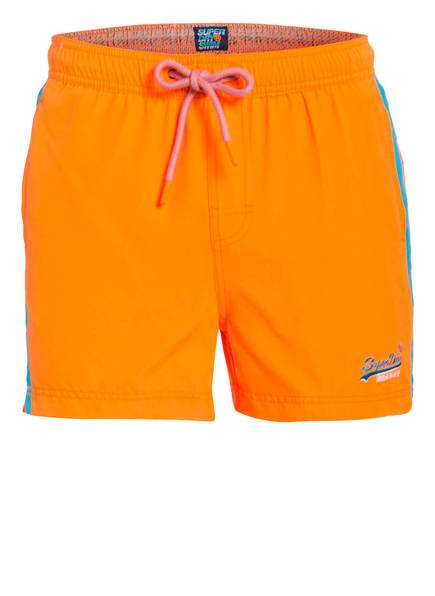Superdry Badeshorts BEACH VOLLEY, Farbe: ORANGE (Bild 1)