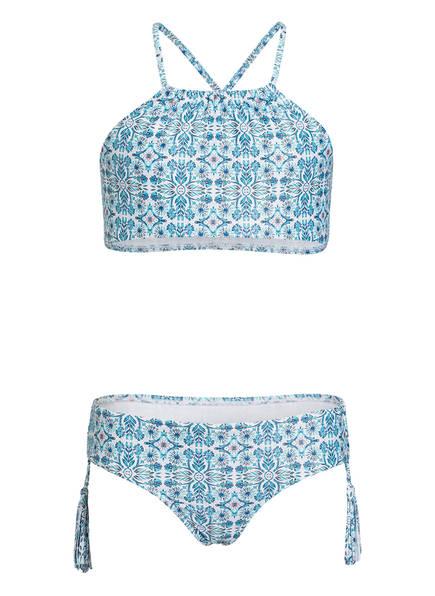 SEAFOLLY Bustier-Bikini MAHARAJA , Farbe: WEISS/ HELLBLAU (Bild 1)