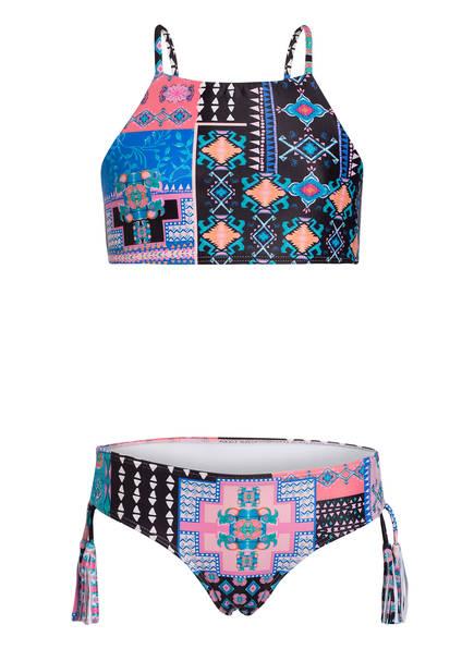 SEAFOLLY Bustier-Bikini POP PALACE, Farbe: SCHWARZ/ ROSA/ BLAU (Bild 1)