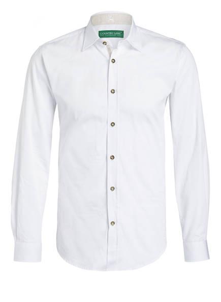COUNTRY LINE Trachtenhemd  Body Fit, Farbe: WEISS (Bild 1)