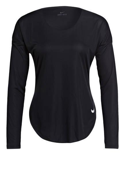 Nike Laufshirt  CITY SLEEK, Farbe: SCHWARZ (Bild 1)