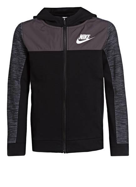Nike Sweatjacke ADVANCE, Farbe: SCHWARZ/ DUNKELGRAU (Bild 1)