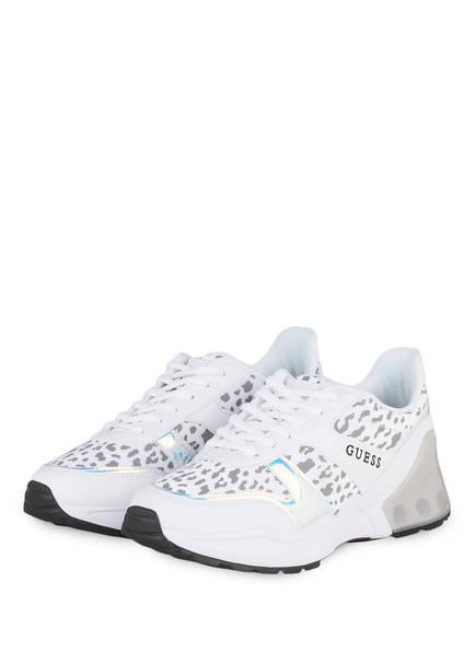 Guess Plateau-Sneaker TEKNICAL, Farbe: WEISS/ GRAU (Bild 1)