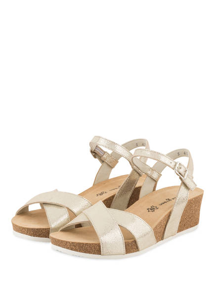 paul green Wedges , Farbe: CREME METALLIC (Bild 1)