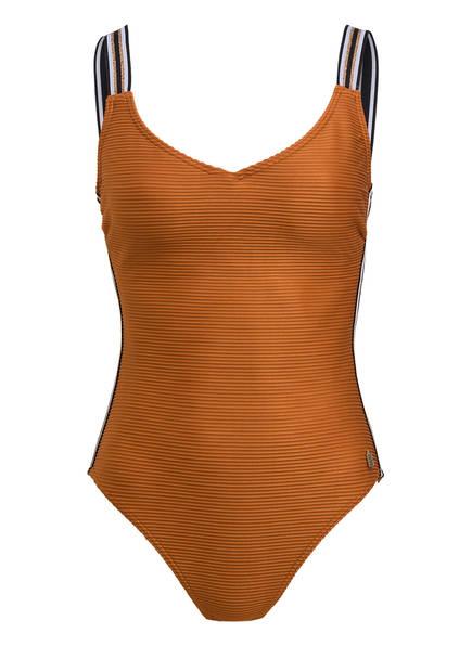 BEACHLIFE Badeanzug mit Glitzergarn, Farbe: COGNAC (Bild 1)