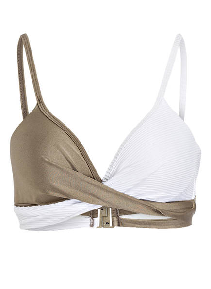 BEACHLIFE Bügel-Bikini-Top, Farbe: WEISS/ KHAKI (Bild 1)