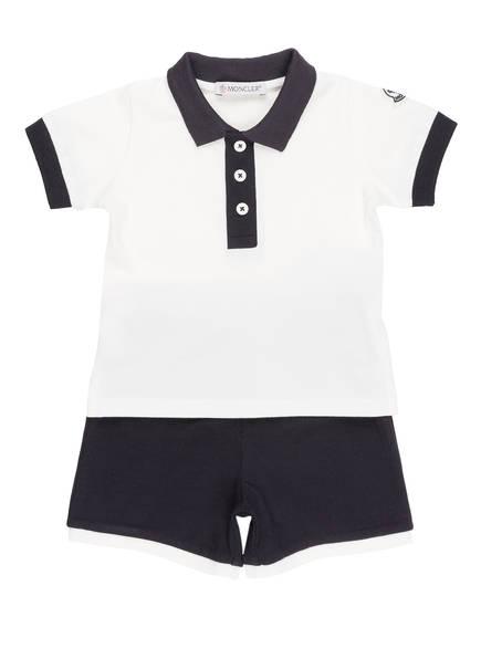 MONCLER Set: Poloshirt und Hose, Farbe: DUNKELBLAU/ WEISS (Bild 1)