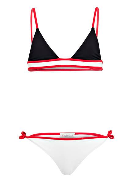MONCLER Bikini-Set 3-teilig, Farbe: SCHWARZ/ WEISS/ ROT (Bild 1)