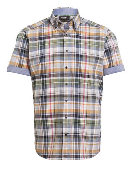 MAERZ MUENCHEN Halbarm-Hemd Slim Fit, Farbe: GRÜN/ WEISS/ PINK (Bild 1)