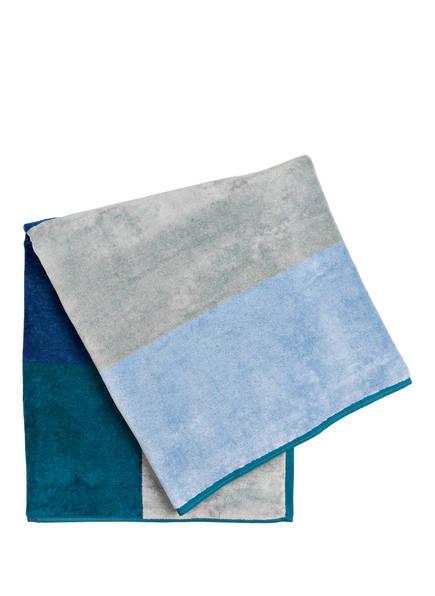 en VOGUE Strandtuch , Farbe: PETROL/ BLAU/ GRAU (Bild 1)