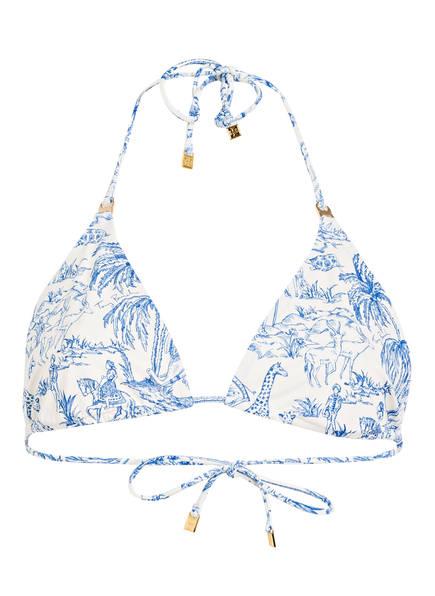 TORY BURCH Triangel-Bikini-Top, Farbe: BLAU/ WEISS (Bild 1)