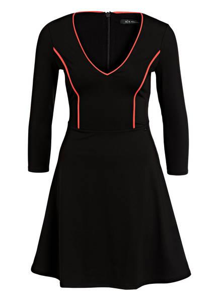 Schwarz arm Jerseykleid Armani 4 3 Mit Exchange U4XxRY