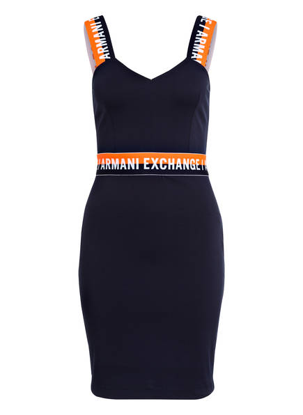 Armani Exchange Jerseykleid Armani Dunkelblau Exchange qYYXzxw