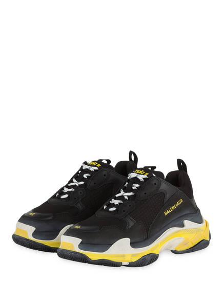 BALENCIAGA Sneaker TRIPLE S, Farbe: SCHWARZ/ GELB (Bild 1)