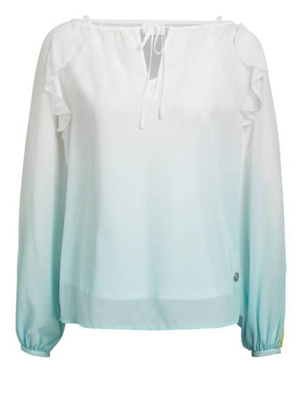 SPORTALM Bluse, Farbe: WEISS/ HELLBLAU (Bild 1)