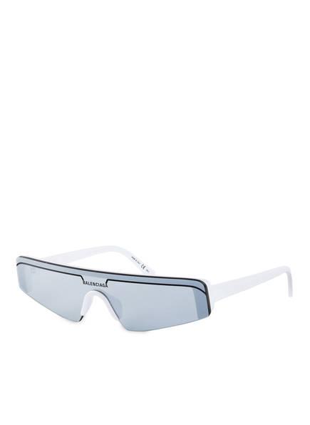 BALENCIAGA Sonnenbrille BB0003S, Farbe: 002 - WEISS/ SILBER VERSPIEGELT (Bild 1)