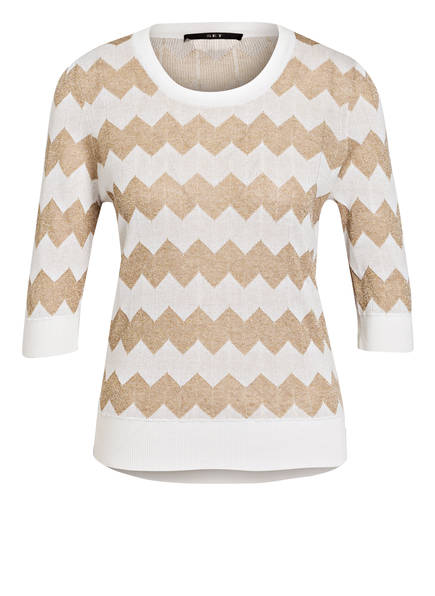SET Pullover mit 3/4-Arm, Farbe: WEISS/ HELLBRAUN (Bild 1)