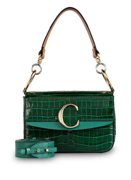 Chloé Umhängetasche C SMALL, Farbe: WOODSY GREEN (Bild 1)