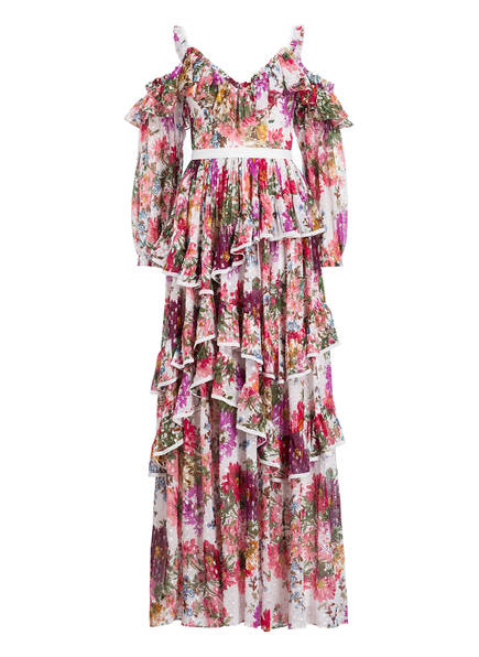 needle & thread Off-Shoulder-Kleid mit Volants, Farbe: IVORY/ LILA/ ROSA (Bild 1)