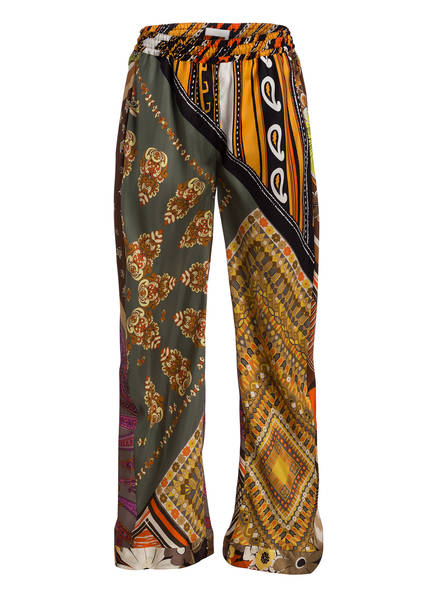 Top-Mode Größe 40 exquisite handwerkskunst Seidenhose