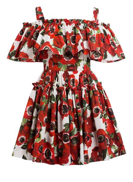 DOLCE&GABBANA Kleid, Farbe: ROT/ WEISS/ GRÜN (Bild 1)