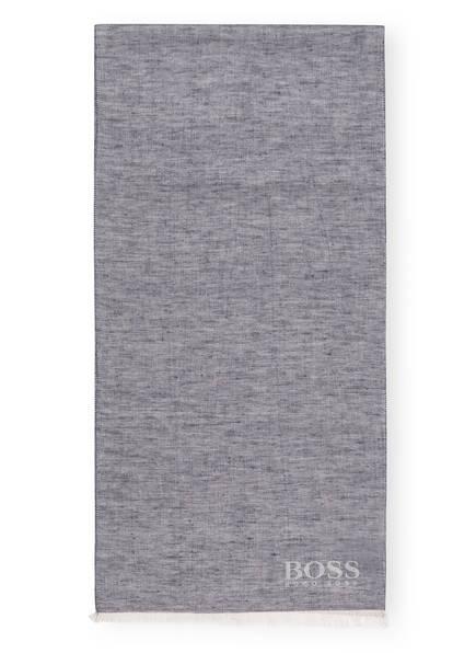 BOSS Schal CALCARO mit Leinenanteil, Farbe: DUNKELBLAU (Bild 1)