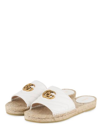 GUCCI Pantoletten im Espadrilles-Stil, Farbe: GREAT WHITE (Bild 1)