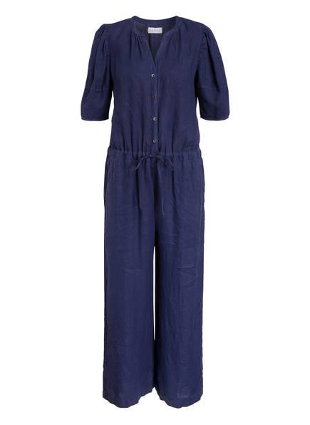 velvet Leinen-Jumpsuit , Farbe: BLAU (Bild 1)